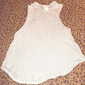Striped sleeveless tank large